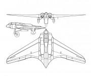 Coloriage Avion de Chasse moderne