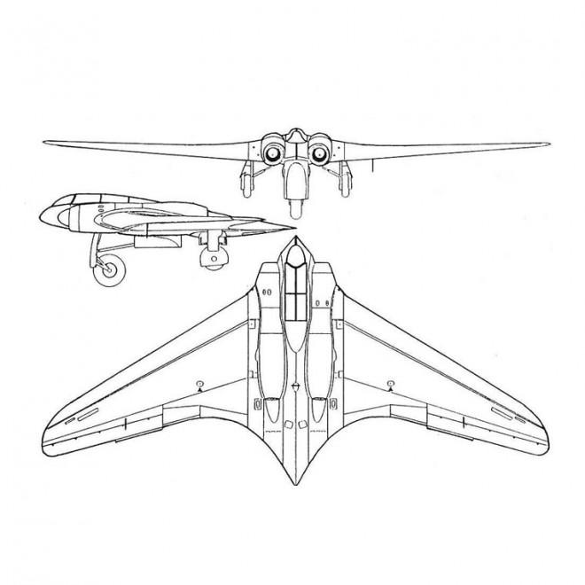 Coloriage avion de chasse moderne dessin gratuit imprimer - Coloriage de avion ...