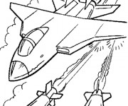 Coloriage Avion de Guerre