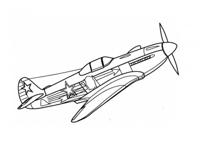 Coloriage et dessins gratuits Avion de Guerre 14-18 à imprimer