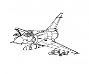 Coloriage Avion de guerre à découper