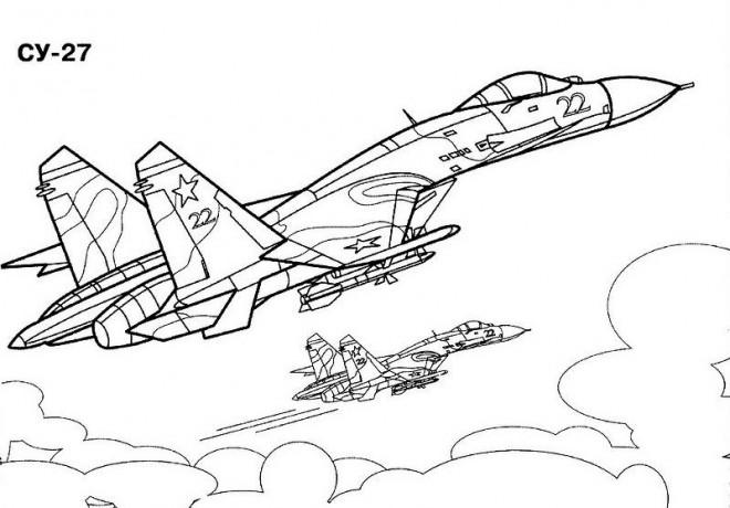 Coloriage et dessins gratuits Avion de Guerre Cy-27 à imprimer