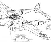Coloriage Avion de Guerre en ligne