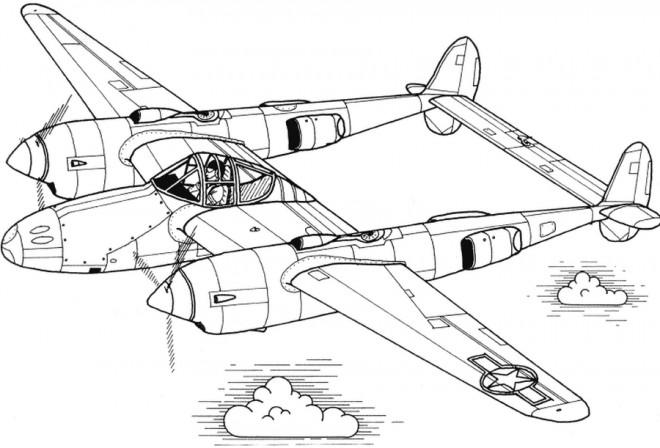 Coloriage et dessins gratuits Avion de Guerre en ligne à imprimer