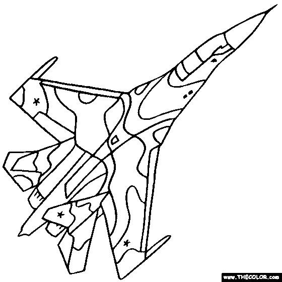 Coloriage et dessins gratuits Avion de Guerre F5 à imprimer