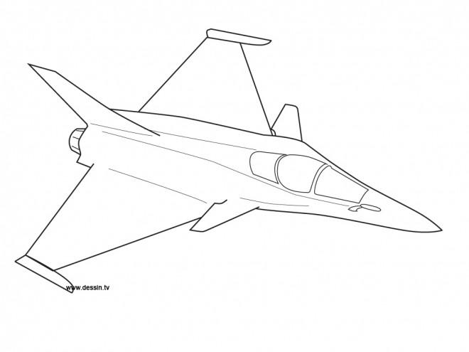 Coloriage et dessins gratuits Avion de guerre mirage à imprimer
