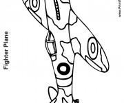 Coloriage Avion de guerre mondiale deux