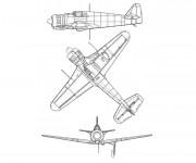 Coloriage et dessins gratuit Avion de Guerre rapide à imprimer