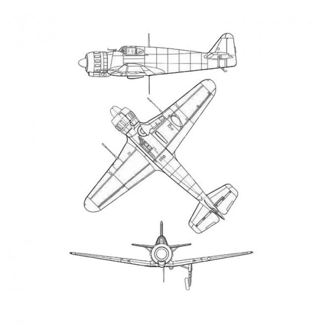 Coloriage et dessins gratuits Avion de Guerre rapide à imprimer