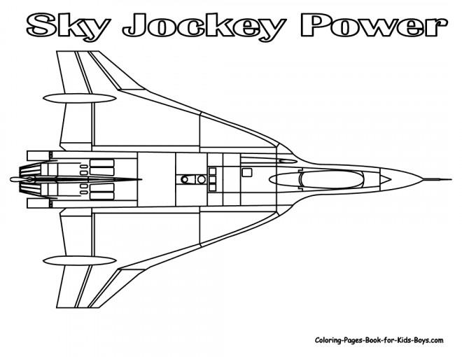 Coloriage et dessins gratuits Avion de Guerre Sky Jockey Power à imprimer