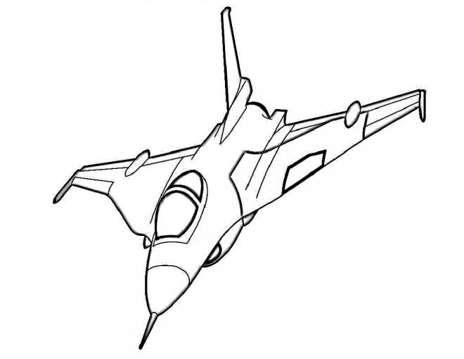 Coloriage et dessins gratuits Avion de Guerre vecteur à imprimer