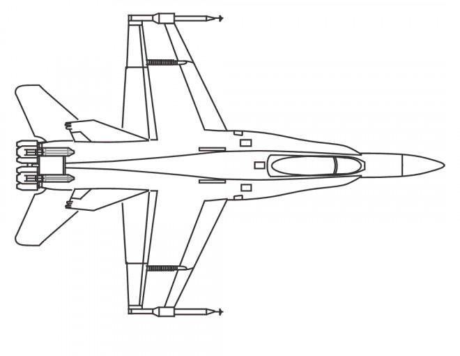 Coloriage et dessins gratuits Avion de Guerre vue de face à imprimer