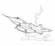 Coloriage Avion F 16 de guerre
