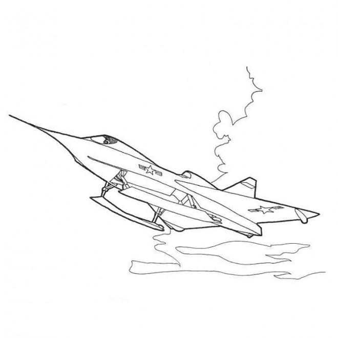 Coloriage Avion F 16 De Guerre Dessin Gratuit à Imprimer