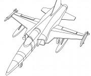 Coloriage Avion militaire en ligne