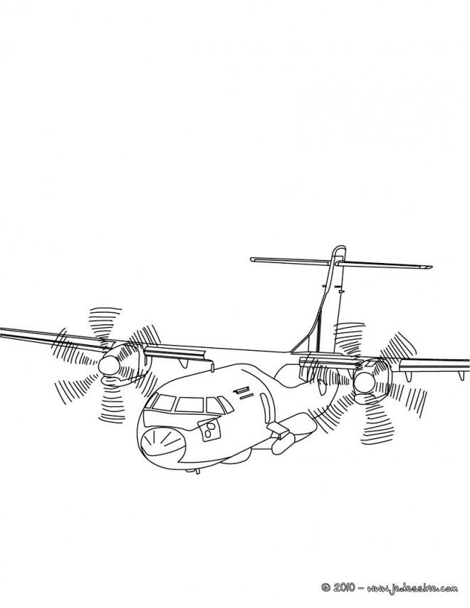 Coloriage et dessins gratuits Avion militaire maternelle à imprimer