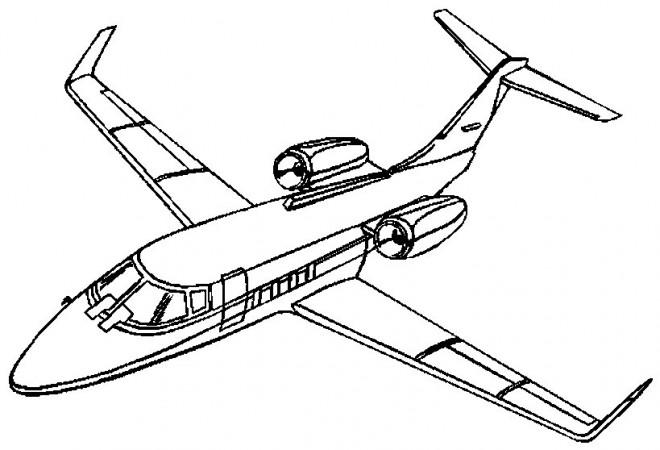 Coloriage et dessins gratuits Avion VIP à imprimer