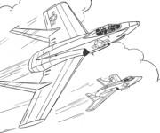 Coloriage Jet de Chasse