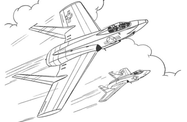 Coloriage et dessins gratuits Jet de Chasse à imprimer