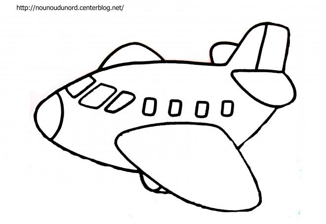 Coloriage Avion A Colorier Dessin Gratuit A Imprimer