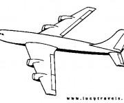 Coloriage et dessins gratuit Avion à découper à imprimer