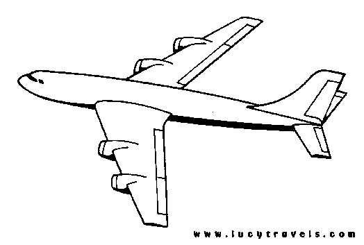 Coloriage et dessins gratuits Avion à découper à imprimer