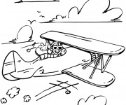 Coloriage Avion ancien