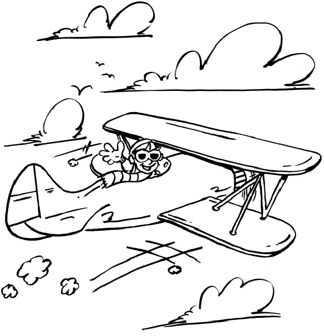 Coloriage et dessins gratuits Avion ancien à imprimer