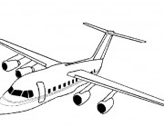 Coloriage Avion au crayon