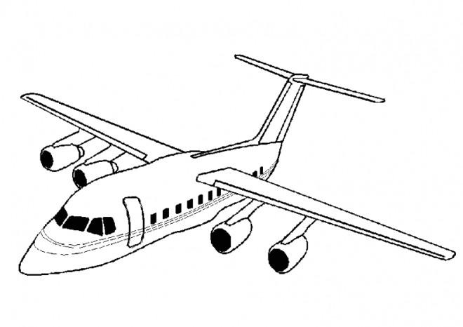 Coloriage avion au crayon dessin gratuit imprimer - Avion en dessin ...