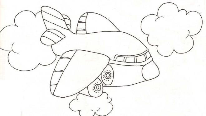Coloriage et dessins gratuits Avion  bizarre à imprimer
