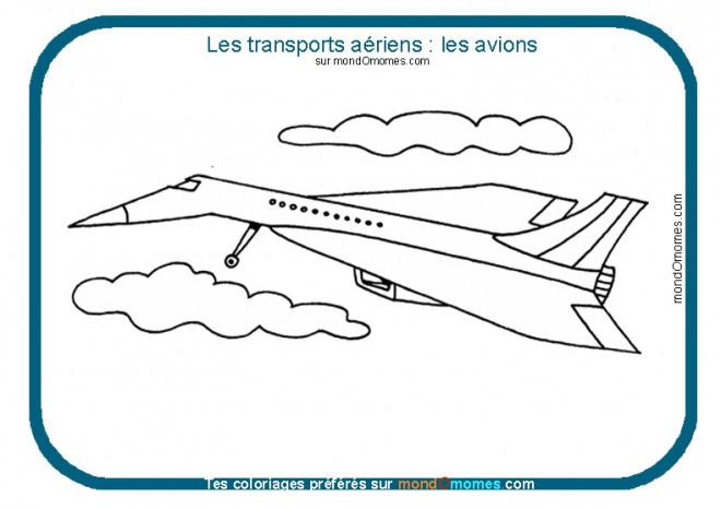 Coloriage et dessins gratuits Avion concorde à imprimer