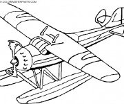 Coloriage Avion couleur à télécharger