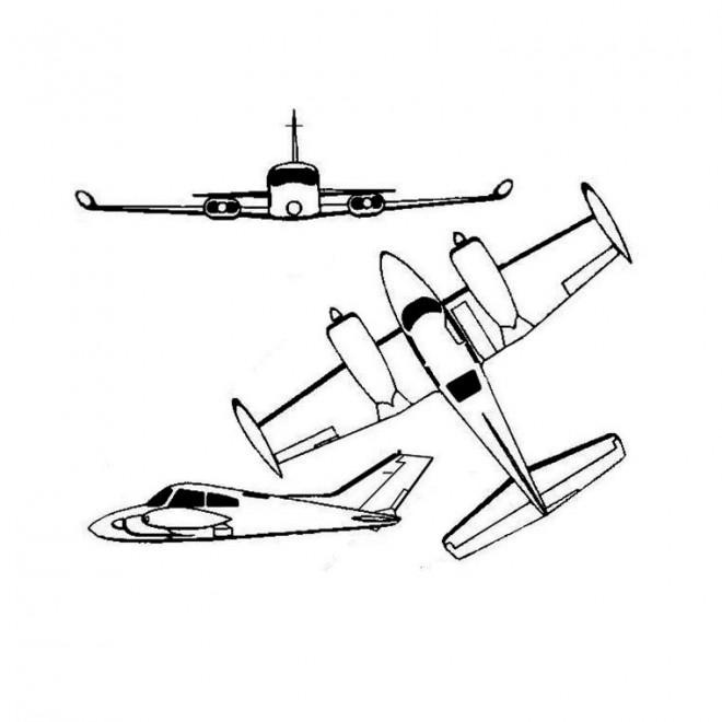 Coloriage et dessins gratuits Avion d'apprentissage à imprimer