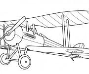 Coloriage et dessins gratuit Avion de guerre mondiale à imprimer