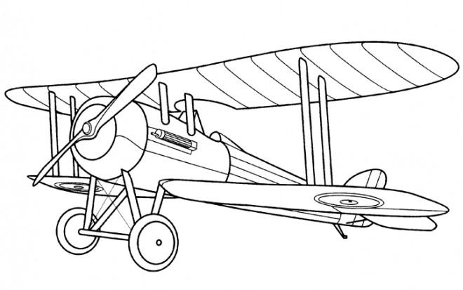Coloriage et dessins gratuits Avion de guerre mondiale à imprimer