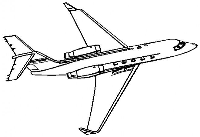 Coloriage et dessins gratuits Avion en couleur à imprimer