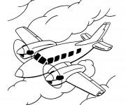 Coloriage et dessins gratuit Avion en l'air à imprimer