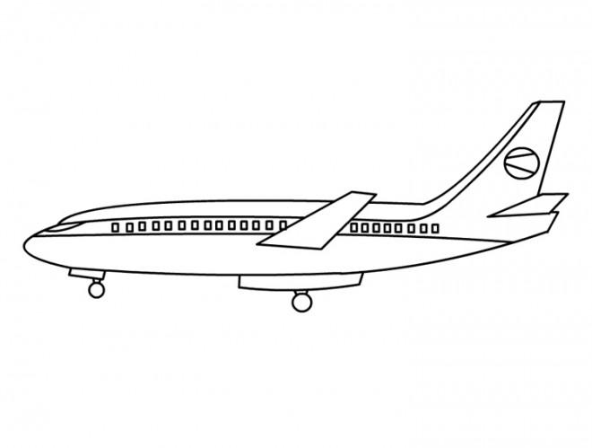 Coloriage avion facile dessin gratuit imprimer - Dessin d avion facile ...