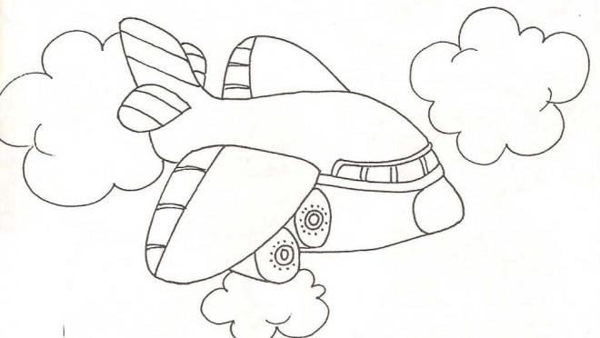Coloriage et dessins gratuits Avion gros qui vole à imprimer