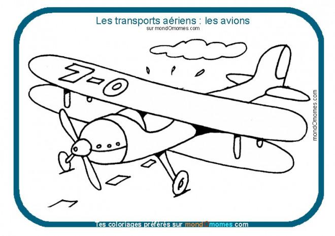 Coloriage et dessins gratuits Avion les transports aériens à imprimer