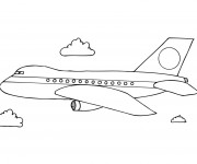 Coloriage et dessins gratuit Avion maternelle à imprimer