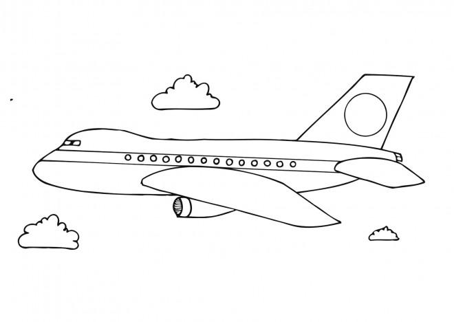 Coloriage et dessins gratuits Avion maternelle à imprimer