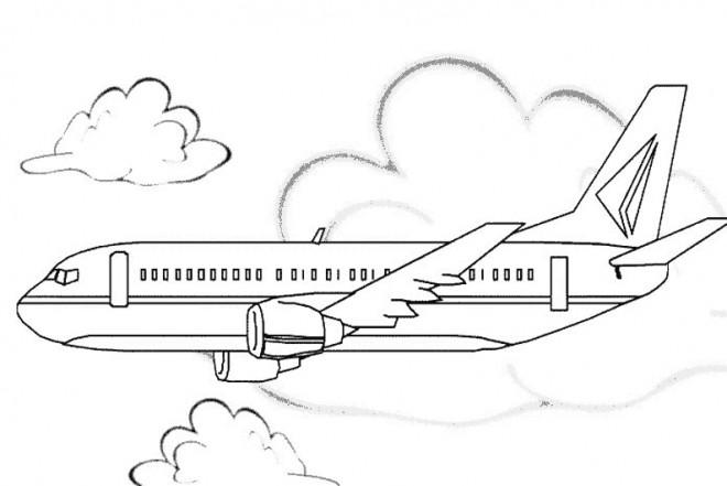 Coloriage et dessins gratuits Avion maternelle en couleur à imprimer