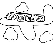 Coloriage et dessins gratuit Avion pour enfant à imprimer