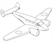 Coloriage et dessins gratuit Avion privé à imprimer