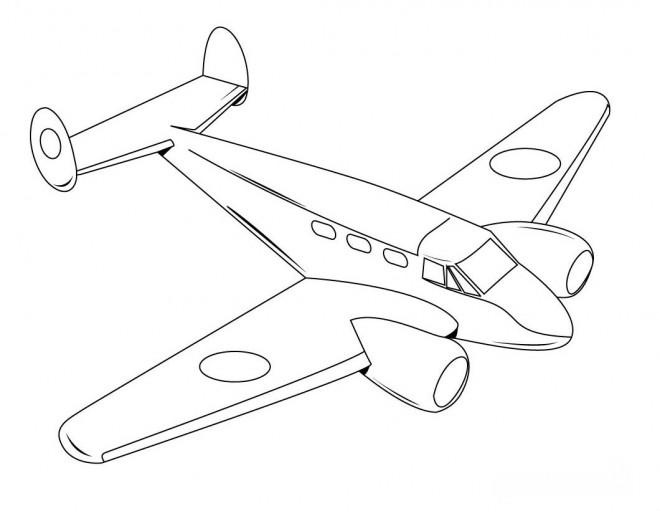 Coloriage et dessins gratuits Avion privé à imprimer
