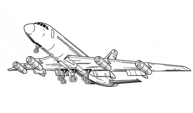 Coloriage et dessins gratuits Avion quitte L'aéroport à imprimer