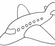 Coloriage Avion simplifié