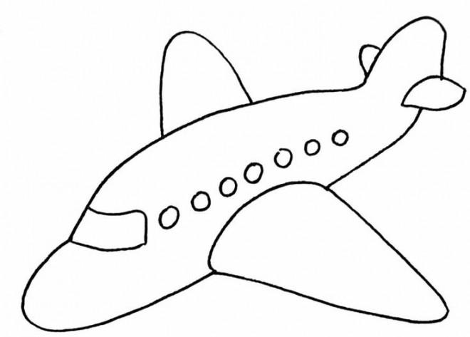 Coloriage Avion A Imprimer.Coloriage Avion Simplifie Dessin Gratuit A Imprimer